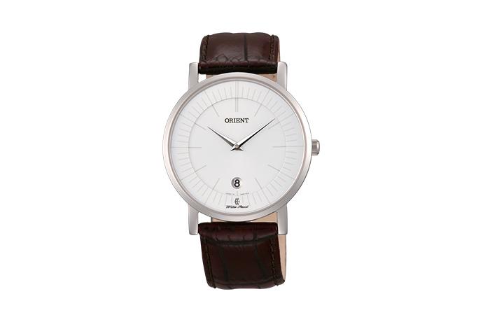 Orient: Cuarzo Clásico Reloj, Cuero Correa - 38.0mm (GW0100AW)