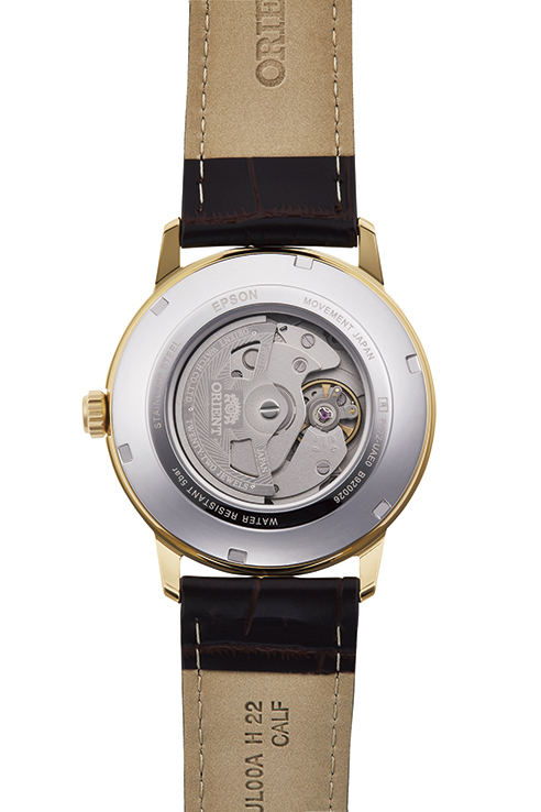 ORIENT: Mechanical Contemporary Watch, Leather Strap - 41.6mm (RA-AC0F04S)