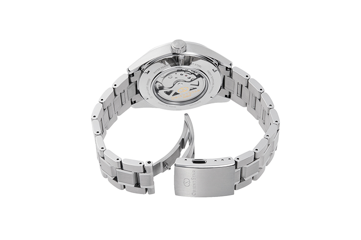 ORIENT STAR: Mechanische Modern Uhr, Metall Band - 41.0mm (RE-AV0113S)