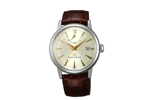 ORIENT STAR: Mechanical Classic Watch, Leather Strap - 38.5mm (AF02005S)