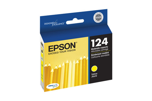 Epson 124, Yellow Ink Cartridge, Moderate Capacity