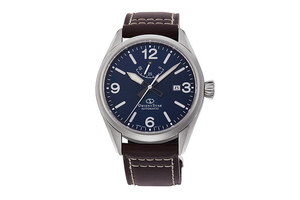 ORIENT STAR: Mechanical Sports Watch, Leather Strap - 41.0mm (RE-AU0204L)