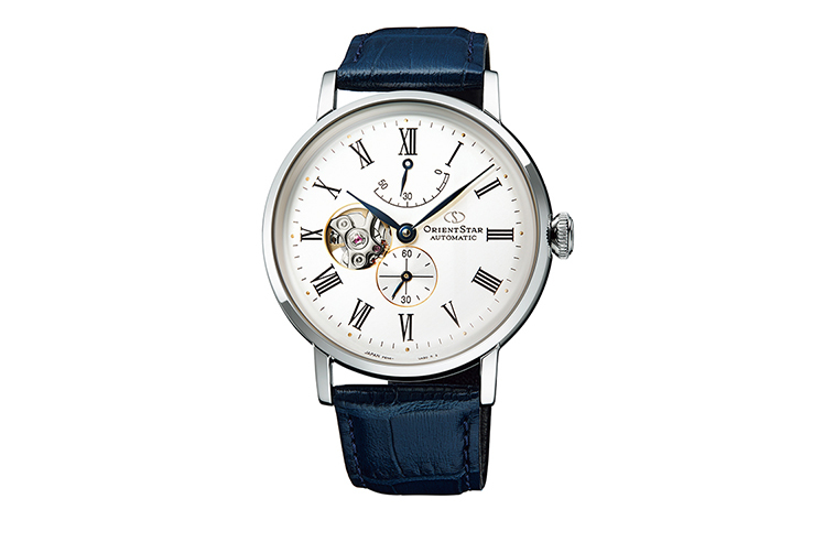 ORIENT STAR: Mechanical Classic Watch, Leather Strap - 40.0mm (RE-AV0007S)