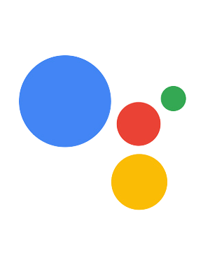 Google Assistant logo showing four circles of different sizes and colors