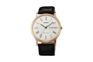Orient: Cuarzo Clásico Reloj, Cuero Correa - 40.5mm (UG1R006W)