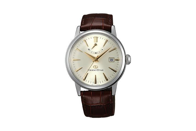 Orient Star: Mecánico Clásico Reloj, Cuero Correa - 38.5mm (AF02005S)