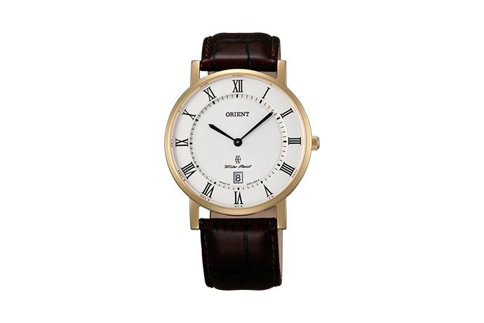 Orient: Cuarzo Clásico Reloj, Cuero Correa - 38.0mm (GW0100FW)