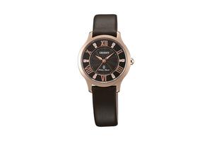 Orient: Cuarzo Contemporary Reloj, Cuero Correa - 30.5mm (UB9B001T)