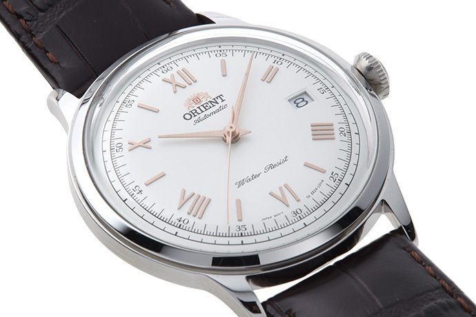 ORIENT: Mechanical Classic Watch, Leather Strap - 40.5mm (AC00008W)