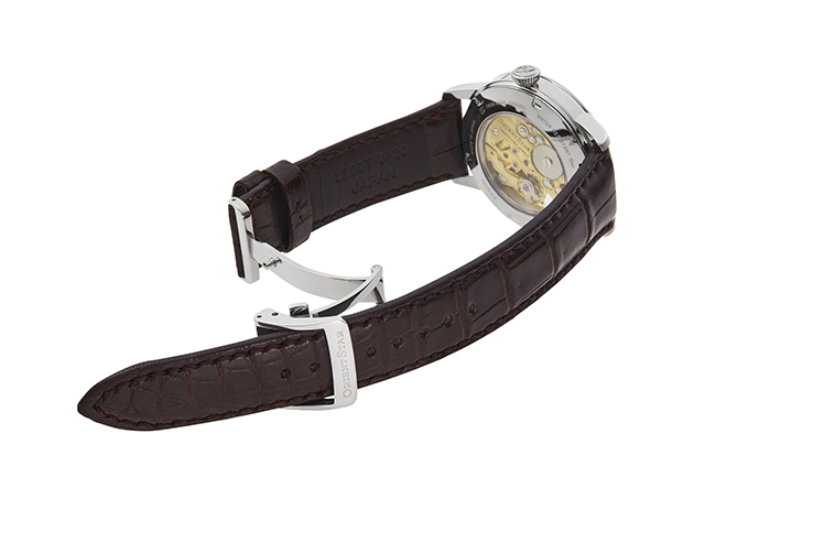 ORIENT STAR: Mechanical Classic Watch, Crocodile Strap - 38.8mm (RE-AZ0001S)