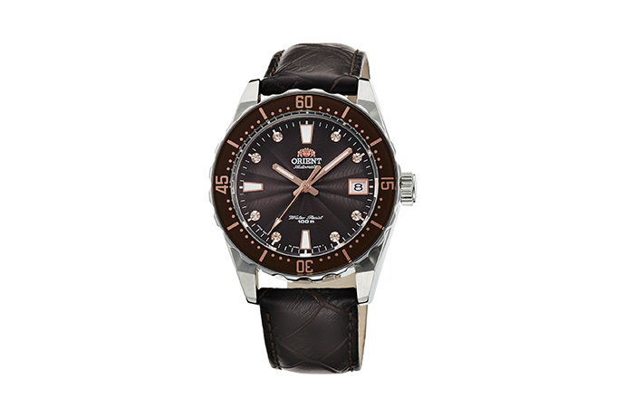 ORIENT: Mechanical Sports Watch, Leather Strap - 39.0mm (AC0A005T)