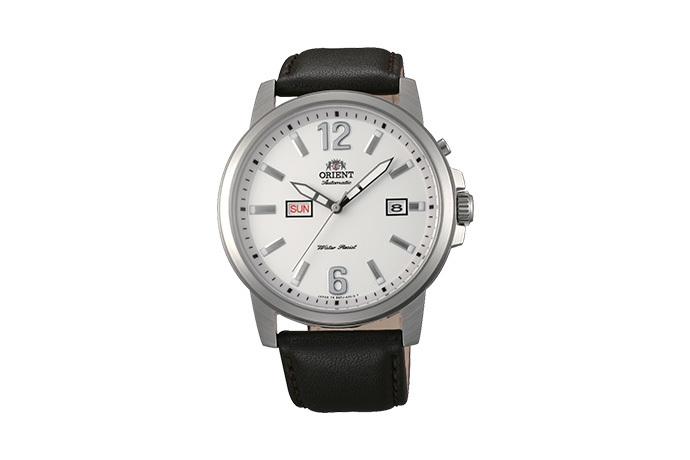 ORIENT: Mechanisch Modern Uhr, Leder Band - 42.0mm (EM7J00AW)