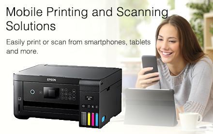 Mobile printing and scanning solutions. Easily print or scan from smartphones, tablets, and more.