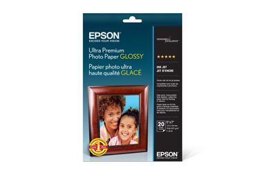 "Ultra Premium Photo Paper Glossy, 5"" x 7"", 20 hojas"