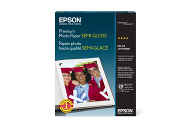 "Premium Photo Paper Semi-gloss, 8.5"" x 11"", 20 hojas"