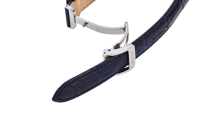 ORIENT: Kwarcowy Klasyczny Zegarki, Skórzany Pasek - 34.8mm (RA-KA0004L)