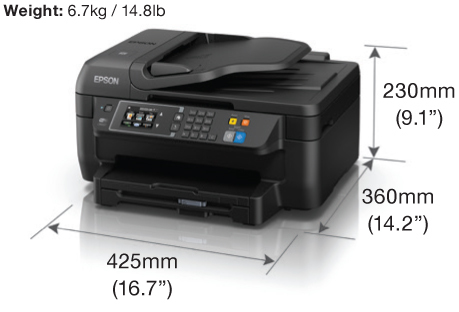 Epson WorkForce WF-2651 Wi-Fi Duplex All-in-One Inkjet Printer