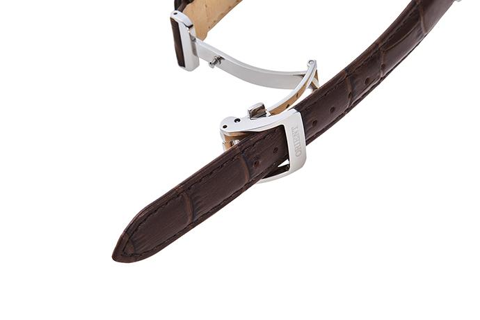 ORIENT: Kwarcowy Klasyczny Zegarki, Skórzany Pasek - 34.8mm (RA-KA0005A)