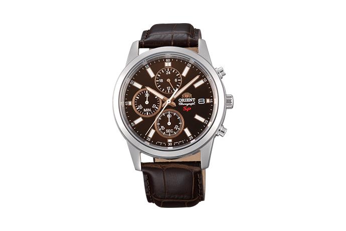 Orient: Cuarzo Sports Reloj, Cuero Correa - 42.0mm (KU00005T)