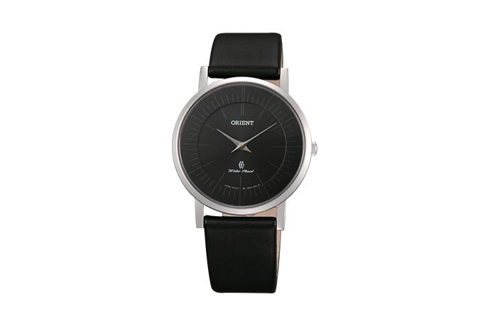 Orient: Cuarzo Contemporary Reloj, Cuero Correa - 35.0mm (UA07005B)