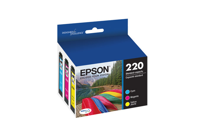 Epson 220, Color Ink Cartridges, C/M/Y 3-Pack