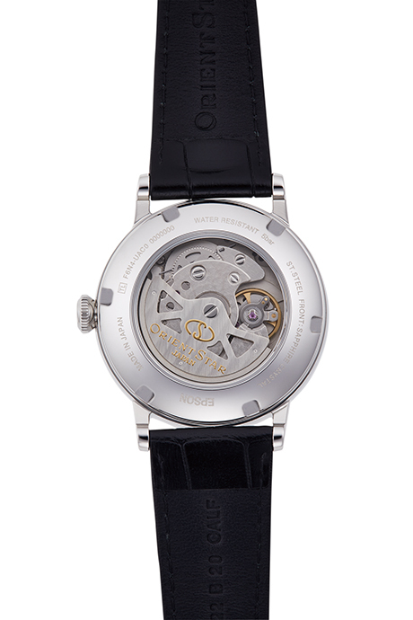 ORIENT STAR: Mechanical Classic Watch, Leather Strap - 38.7mm (RE-AU0002S)