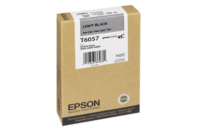 Epson T605, 110 ml Light Black UltraChrome K3 Ink Cartridge