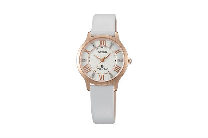 Orient: Cuarzo Contemporary Reloj, Cuero Correa - 30.5mm (UB9B002W)