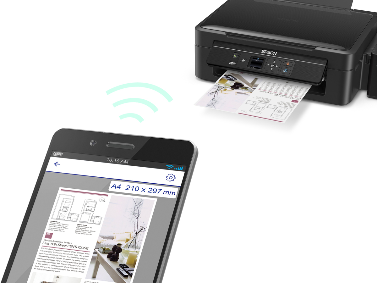 Epson L485 Wi-Fi All-in-One Ink Tank Printer