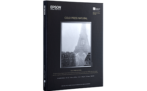 "Epson Cold Press Natural 17"" x 22"" 25 pack"