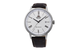 ORIENT: Mechanical Contemporary Watch, Leather Strap - 42.4mm (RA-AC0J06S)