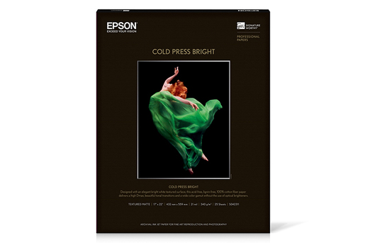 "Cold Press Bright, 17"" x 22"", 25 sheets"