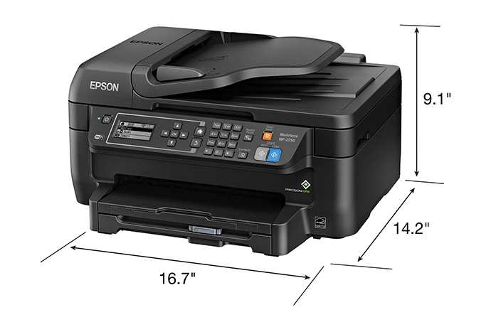 Epson WorkForce WF-2750 All-in-One Printer | Inkjet