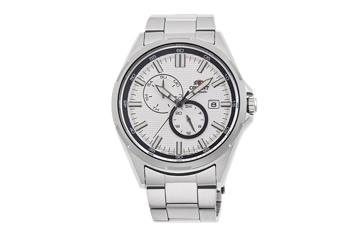 ORIENT: Mechanisch Modern Uhr, Metall Band - 38.5mm (AG03001W)