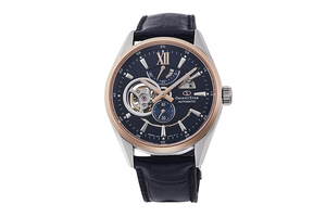 ORIENT STAR: Mechanical Contemporary Watch, Leather Strap - 41.0mm (RE-AV0111L)