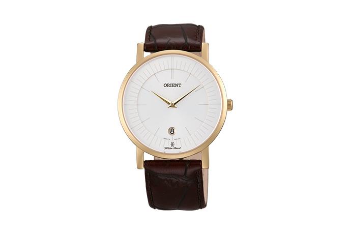 Orient: Cuarzo Clásico Reloj, Cuero Correa - 38.0mm (GW01008W)