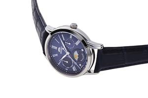 ORIENT: Cuarzo Clásico Reloj, Cuero Correa - 34.8mm (RA-KA0004L)