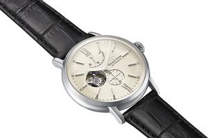ORIENT STAR: Mecánico Clásico Reloj, Piel de cocodrilo Correa - 40.0mm (RE-HH0001S0)