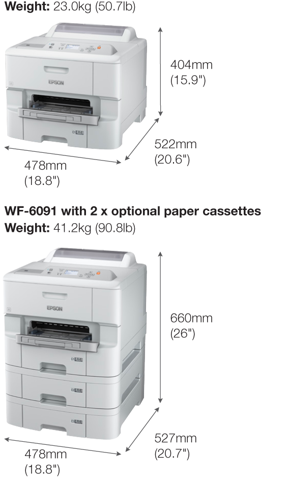 Epson WorkForce Pro WF-6091 Wi-Fi Duplex Inkjet Printer