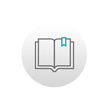 Icon of an open book with a bookmark