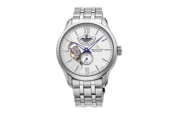 ORIENT STAR: Mechanical Contemporary Watch, Metal Strap - 41.0mm (RE-AV0B01S)
