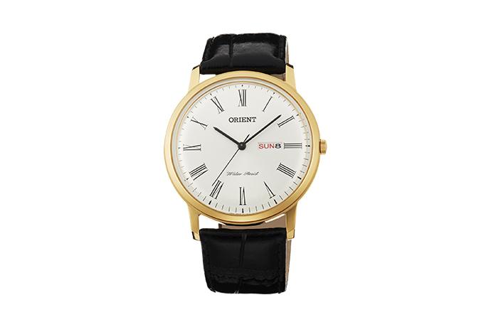 Orient: Cuarzo Clásico Reloj, Cuero Correa - 40.5mm (UG1R007W)