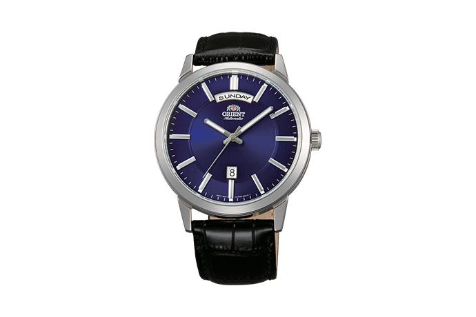 ORIENT: Mechanisch Modern Uhr, Leder Band - 42.0mm (EV0U003D)