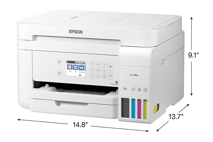 EcoTank ET-3760 All-in-One Cartridge-Free Supertank Printer