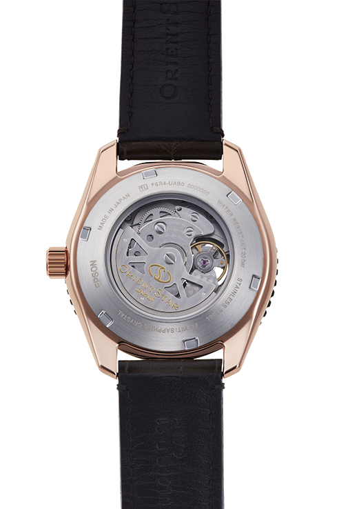 ORIENT STAR: Mechanical Sports Watch, Leather Strap - 43.2mm (RE-AT0103Y)