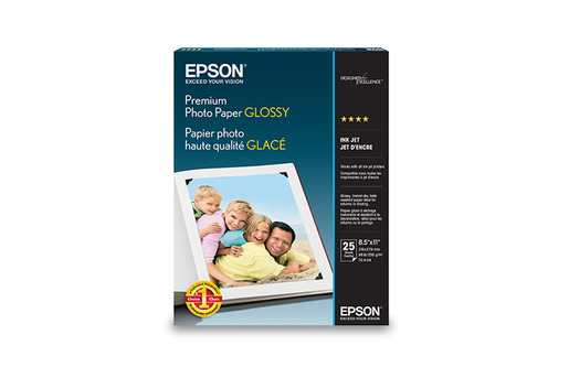 "Premium Photo Paper Glossy, 8.5"" x 11"", 25 sheets"