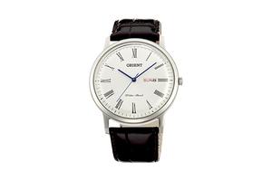 Orient: Cuarzo Clásico Reloj, Cuero Correa - 40.5mm (UG1R009W)