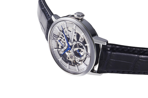 ORIENT STAR: Mechaniczny Klasyczny Zegarki, Skórzany o fakturze imitującej skórę krokodyla Pasek - 39.0mm (RE-DX0001S)