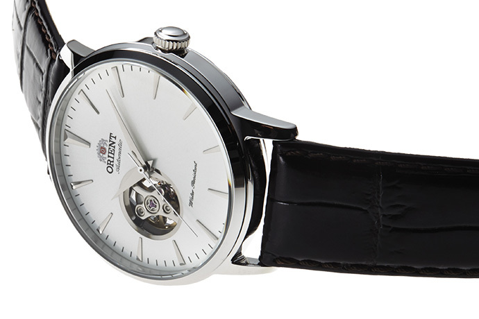 ORIENT: Mechanisch Modern Uhr, Leder Band - 41.0mm (AG02005W)