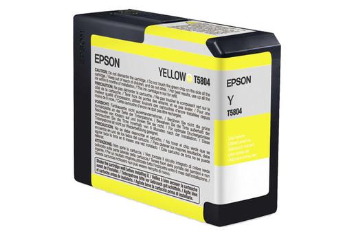 Epson T580, 80 ml Yellow UltraChrome K3 Ink Cartridge
